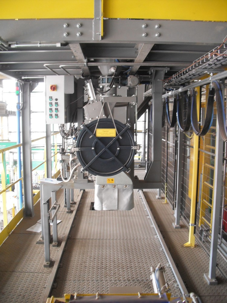Core sand mixing system